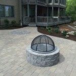 Belgard Paver Patio and Fire Pit  overlooking New Found Lake NH