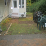 Before Picture of Paver patio installed in Gilford New Hampshire, Belknap County.