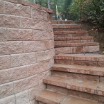 Allen Block Retaining Wall and Stairs Gilford NH