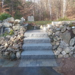 After picture of stairs installed in Meredith New Hampshire