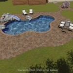 Paver pool decks installed in New Hampshire.