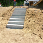 After Picture of Granite steps installed in Gilford New Hampshire, Belknap County.