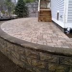 Raised Permeable Paver Patio, Belgard Permeable Pavers Gilford NH