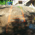 Before picture of Granite steps installed in Gilford New Hampshire, Belknap County.