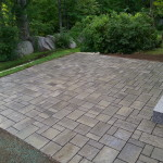 Techo-Bloc Permeable Paver Patio installed in New Hampshire