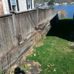 Before Picture of a retaining wall in Sanbornton New Hampshire, Belknap County by Natures Elite Landscaping
