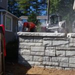 After Picture of Block Wall installed in Sanbornton New Hampshire Belknap County, by Natures Elite Landscaping of Gilford